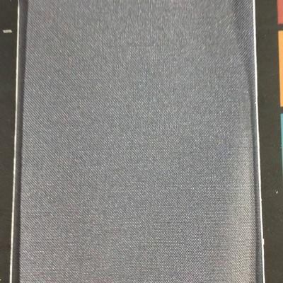 2.05 Yard Piece of Satin FInish Vinyl Fabric   Dark Gray Woven Texture   Upholstery / Bag Making   54 Wide