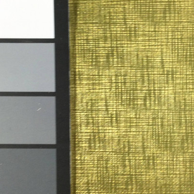 1.55 Yard Piece of Vinyl Fabric    Gold Woven Texture   Felt-Backed   Upholstery / Bag Making   54 Wide
