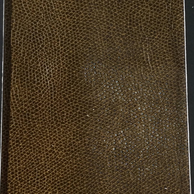 1.8 Yard Piece of Faux Leather Vinyl Fabric | Two Toned Brown Light Grain | Felt-Backed | Upholstery / Bag Making | 54 Wide