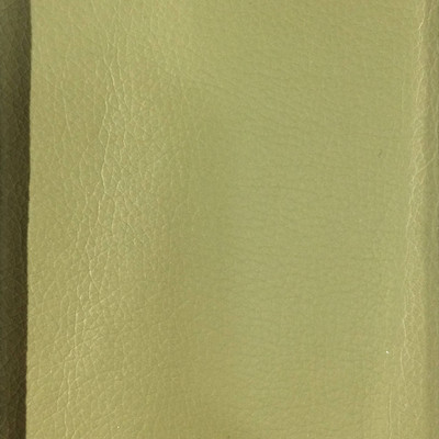 2.05 Yard Piece of Faux Leather Vinyl Fabric | Moss Green Light Grain | Felt-Backed | Upholstery / Bag Making | 54 Wide