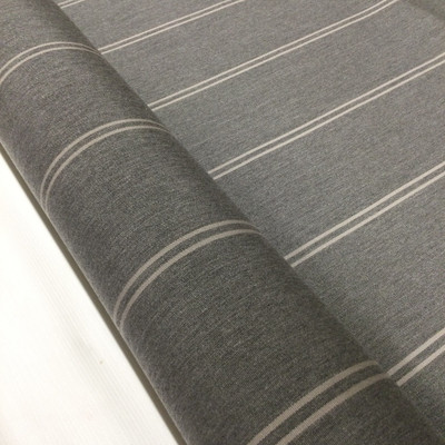 """3.05 Yard Piece of Vintage Striped Sunbrella 