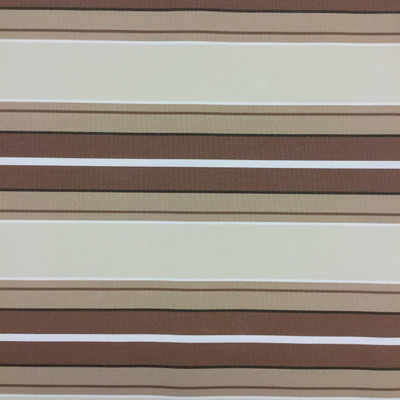 """3.8 Yard Piece of Vintage Striped Sunbrella   Brown / Beige   Outdoor Awning / Upholstery   46"""" Wide"""