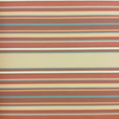 """2.8 Yard Piece of Vintage Striped Sunbrella   Orange / Green / Brown   Outdoor Awning / Upholstery   46"""" Wide"""