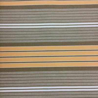 """9.55 Yard Piece of Vintage Striped Sunbrella   Orange / Brown / White   Outdoor Awning / Upholstery   46"""" Wide"""