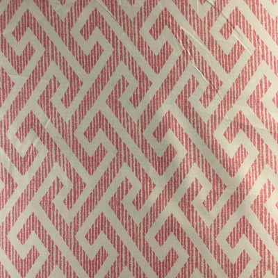 """George by P/Kaufmann   Pink / White   Home Decor Fabric   Light Upholstery / Drapery   54"""" Wide   By the Yard"""
