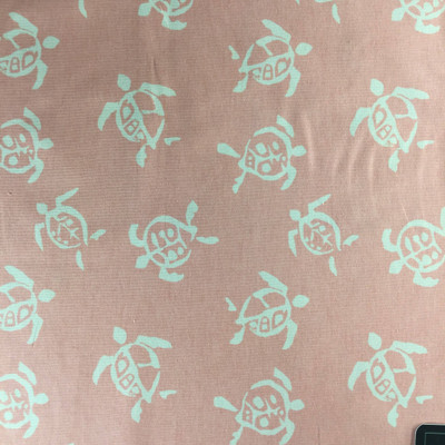 """Sea Turtles in Pink by P/K Lifestyles   Home Decor Fabric   Light Upholstery / Drapery   54"""" Wide   By the Yard"""