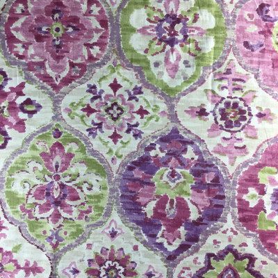 Ali Baba in Ruby By P/Kaufman | Purple / Green  | Home Decor Fabric | Drapery / Light Upholstery | 54 Wide | By the Yard