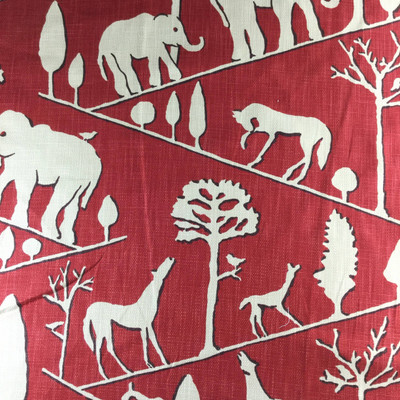 """Jungle Walk in Cardinal Red by Braemore 