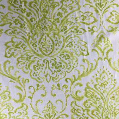 """Scroll Gate in Kiwi by P/Kaufmann   Green / White   Home Decor Fabric   Light Upholstery / Drapery   54"""" Wide   By the Yard"""