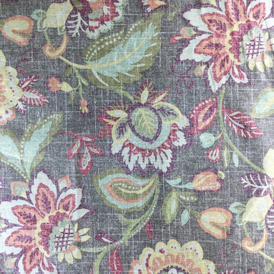 """Vintage Floral in Brown, Green, Red 