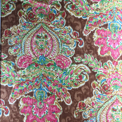 """Crystal Vision in Gypsy by P/K Lifestyles   Brown, Pink, Red, Blue, Green   Home Decor Fabric   Drapery / Light Upholstery   Linen-Like    54"""" Wide   By the Yard"""