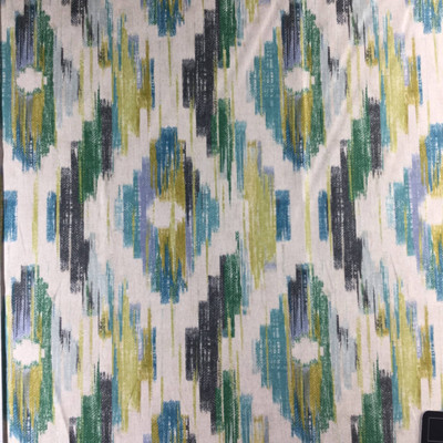 """Tag Ikat in Calypso by P/Kaufmann   Teal Green, Gray, Beige   Home Decor Fabric   Light Upholstery / Drapery   54"""" Wide   By the Yard"""