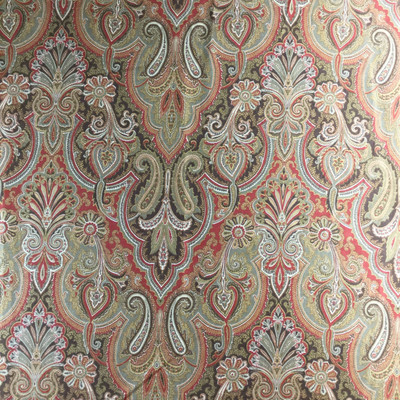"""Trophy Room in Crimson by P/Kaufmann   Red / Brown   Home Decor Fabric   Light Upholstery / Drapery   54"""" Wide   By the Yard"""