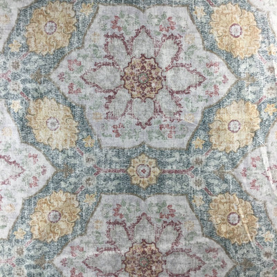 """Toscana Tile in Cerulean by P/Kaufmann 