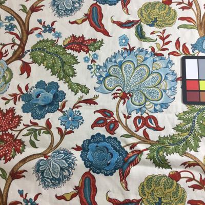 jacobean floral home decor fabric