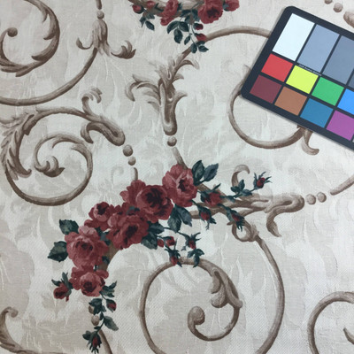 floral scroll home decor fabric