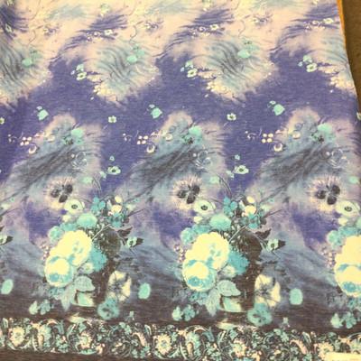 floral border fabric