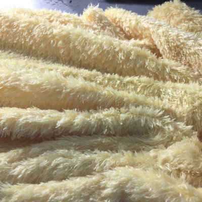 sparkle yellow faux fur fabric