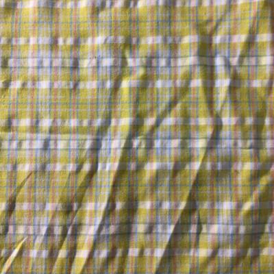 yellow blue plaid fabric