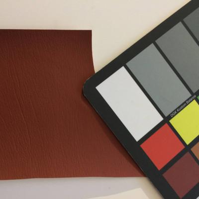 4.8 Yard Piece of Faux Leather Vinyl Fabric | Burnt Umber Medium Grain | Upholstery / Bag Making | 54 Wide