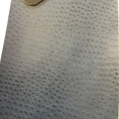 5.3 Yard Piece of Faux Leather Vinyl Fabric   Medium Blue Ostrich   Felt-Backed   Upholstery / Bag Making   54 Wide
