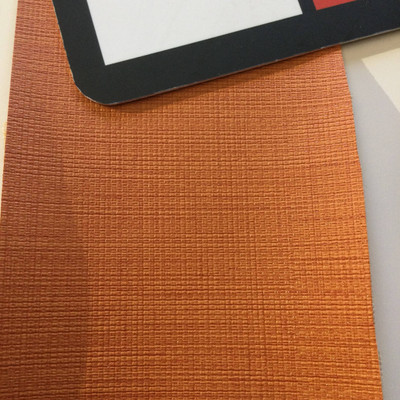5.8 Yard Piece of Vinyl Fabric   Pumpkin Orange Woven Texture   Felt-Backed   Upholstery / Bag Making   54 Wide