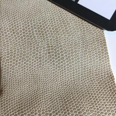 3 Yard Piece of Faux Leather Vinyl Fabric | Beige Snakeskin | Felt-Backed | Upholstery / Bag Making | 54 Wide