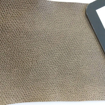 5.5 Yard Piece of Faux Leather Vinyl Fabric | Taupe Medium Grain | Felt-Backed | Upholstery / Bag Making | 54 Wide