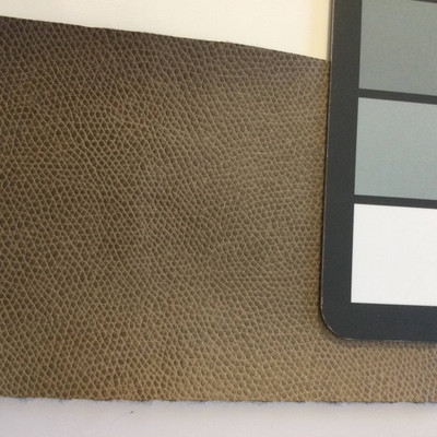 5.9 Yard Piece of Faux Leather Vinyl Fabric | Taupe Medium Grain | Felt-Backed | Upholstery / Bag Making | 54 Wide