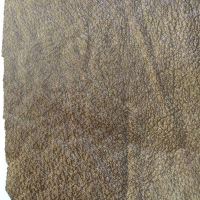 1.8 Yard Piece of Faux Suede Vinyl Fabric | Two Toned Brown | Upholstery / Bag Making | 54 Wide