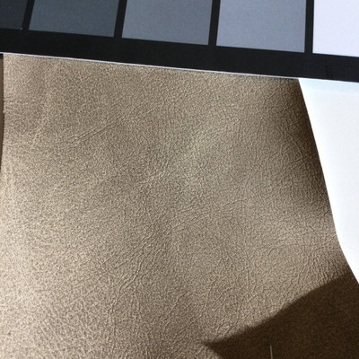 4.9 Yard Piece of Faux Leather Vinyl Fabric   Matte Dark Beige    Felt-Backed   Upholstery / Bag Making   54 Wide