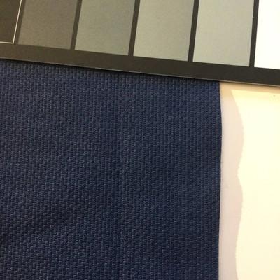 6.4 Yard Piece of Vinyl Fabric | Dark Blue Woven Texture | Felt-Backed | Upholstery / Bag Making | 54 Wide