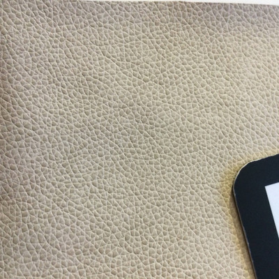 2.1 Yard Piece of Faux Leather Vinyl Fabric   Beige   Felt-Backed   Upholstery / Bag Making   54 Wide