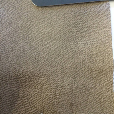 4.8 Yard Piece of Faux Leather Vinyl Fabric | Brown Medium Grain | Felt-Backed | Upholstery / Bag Making | 54 Wide