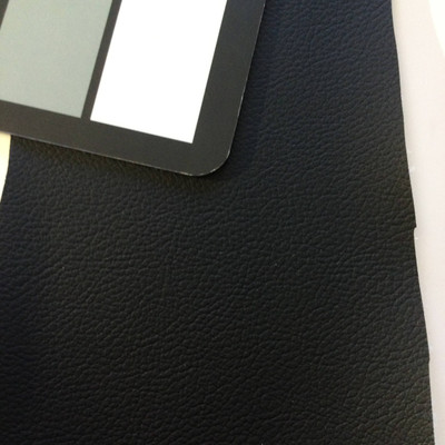 2.5 Yard Piece of Faux Leather Vinyl Fabric | Matte Black | Upholstery / Bag Making | 54 Wide