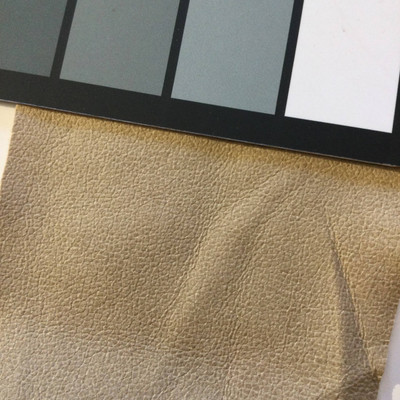 1.8 Yard Piece of Faux Suede Vinyl Fabric   Beige   Felt-Backed   Upholstery / Bag Making   54 Wide