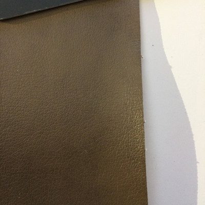 6.6 Yard Piece of Faux Leather Vinyl Fabric   Taupe Brown   Upholstery / Bag Making   54 Wide