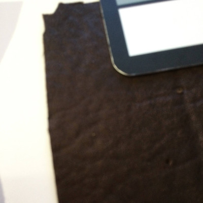 1.4 Yard Piece of Faux Suede Vinyl Fabric   Two Toned Dark Brown   Upholstery / Bag Making   54 Wide
