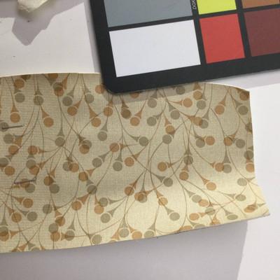 2.8 Yard Piece of Vinyl Fabric | Vintage Pattern Beige / Brown | Upholstery / Bag Making | 54 Wide
