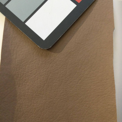 4.8 Yard Piece of Faux Leather Vinyl Fabric | Matte Taupe Brown | Felt-Backed | Upholstery / Bag Making | 54 Wide