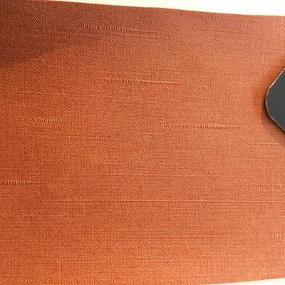 2.8 Yard Piece of Vinyl Fabric | Orange Slub Woven Texture | Upholstery / Bag Making | 54 Wide