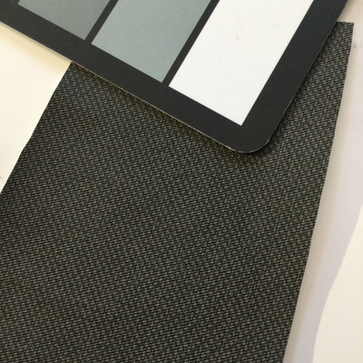 6.3 Yard Piece of Vinyl Fabric | Dark Taupe Woven Texture | Felt-Backed | Upholstery / Bag Making | 54 Wide