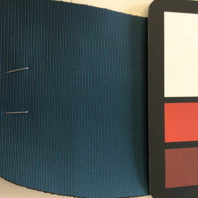 6.3 Yard Piece of Vinyl Fabric | Teal Striped Texture | Felt-Backed | Upholstery / Bag Making | 54 Wide