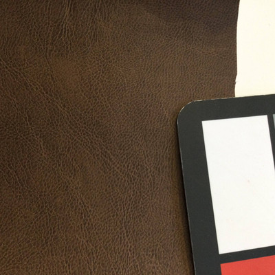 3.8 Yard Piece of Faux Leather Vinyl Fabric   Dark Chocolate Brown   Upholstery / Bag Making   54 Wide