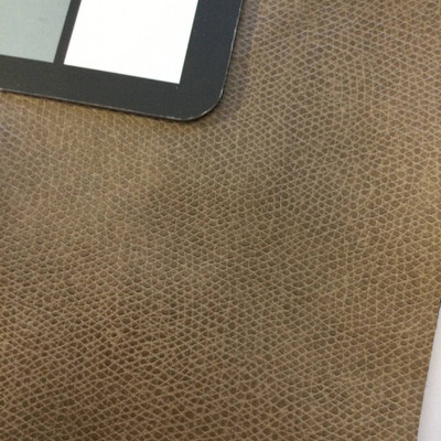 5.5 Yard Piece of Faux Leather Vinyl Fabric | Two Toned Taupe | Felt-Backed | Upholstery / Bag Making | 54 Wide