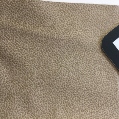 1.8 Yard Piece of Faux Leather Vinyl Fabric | Dark Beige | Upholstery / Bag Making | 54 Wide
