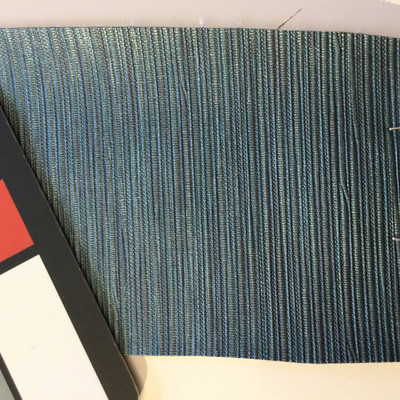4.5 Yard Piece of Vinyl Fabric | Blue Striped Texture | Upholstery / Bag Making | 54 Wide