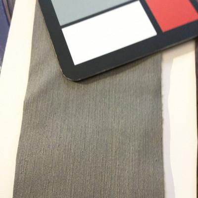 5.8 Yard Piece of Satin Finish Vinyl Fabric   Dark Gray Woven Texture   Felt-Backed   Upholstery / Bag Making   54 Wide