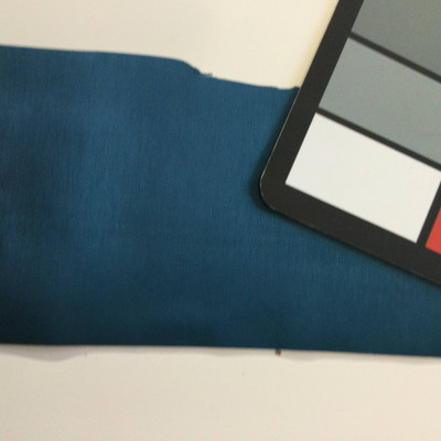 5.3 Yard Piece of Satin Finish Vinyl Fabric | Peacock Blue | Upholstery / Bag Making | 54 Wide