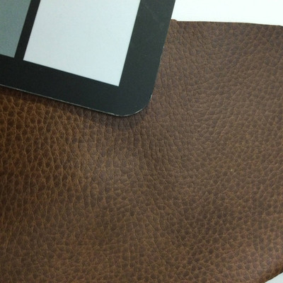 3.8 Yard Piece of Faux Leather Vinyl Fabric | Two Toned Brown | Felt-Backed | Upholstery / Bag Making | 54 Wide
